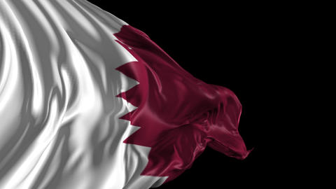 Flag of Qatar Animation