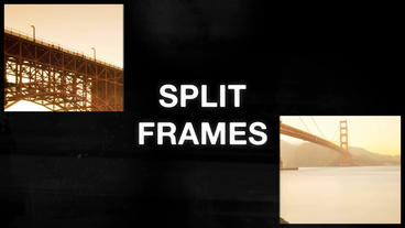 Retro Split Frames Slideshow After Effects Project