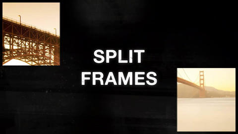Retro Split Frames Slideshow After Effects Template