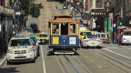 San Francisco Trolly Street Car stock footage