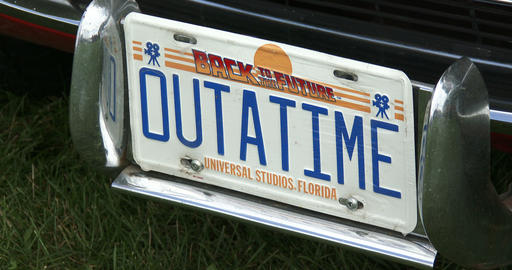 Back to the future license plate Footage