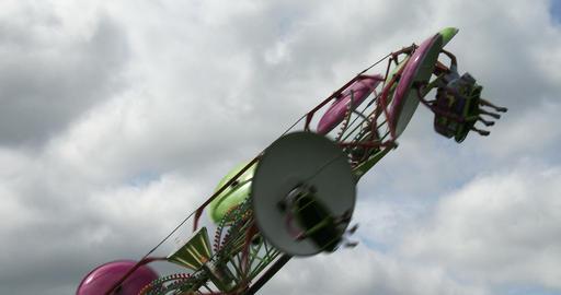 Spinning wheel at amusement park Footage