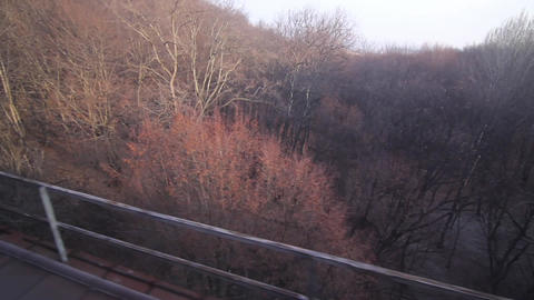 Regard on the train window 48 Footage