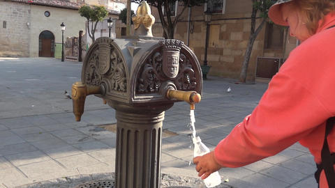 Pilgrim on the Camino de Santiago 57 Footage