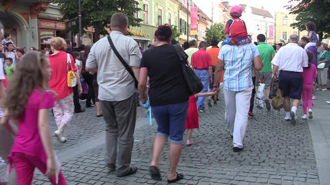People On The Street 125 stock footage
