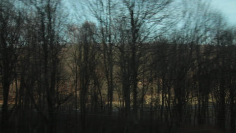 Regard on the train window 60 Footage