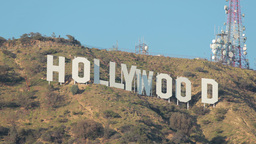 Hollywood Sign On Mountain stock footage