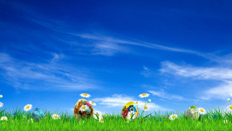 Easter Eggs Background stock footage