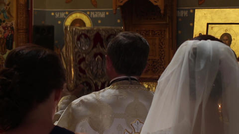 Priest officiating religious ceremony 01 Footage