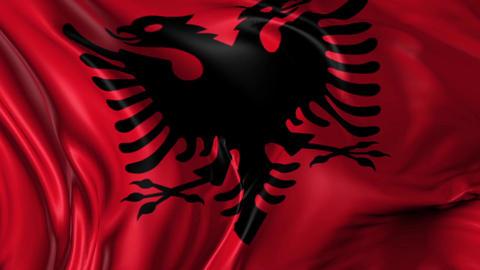 Flag of Albania Animation