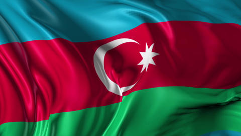 Flag of Azerbaijan Animation