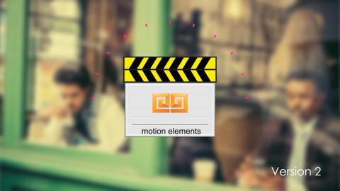 Clap Board Logo Reveal folder After Effects Template