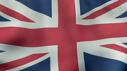 4K UltraHD Loopable waving British flag animation Animation