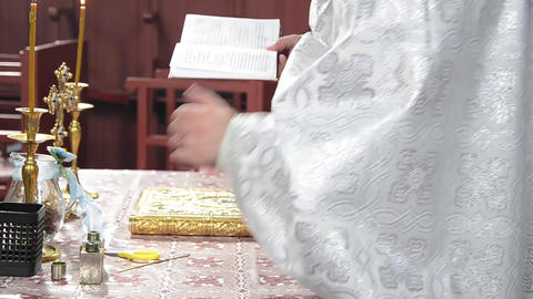 Religious service in church 01 Footage