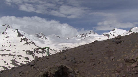 In The Mountains Elbrus. Rock Climbing stock footage
