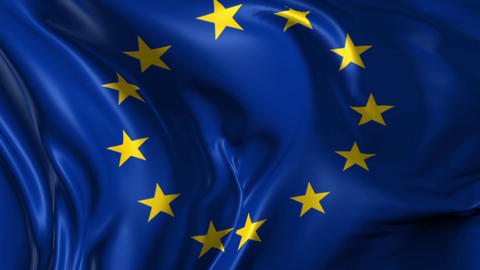Flag of the European Union Animation