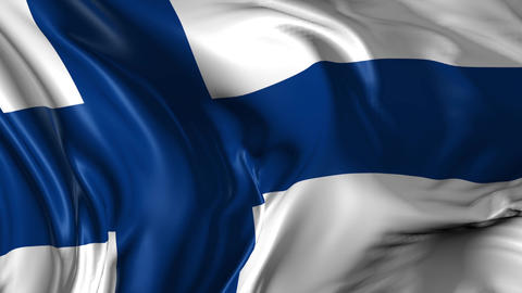 Flag of Finland Animation