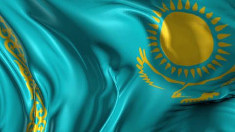 Flag of Kazakhstan Animation