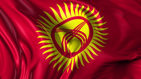 Flag of Kyrgyzstan Animation