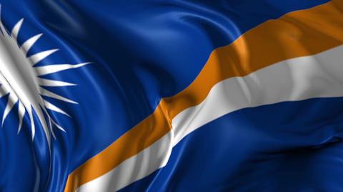Flag of Marshall Islands Animation