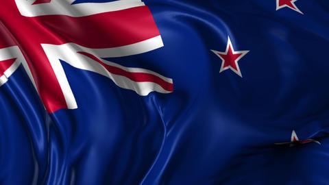 Flag of New Zealand Animation
