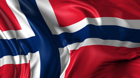 Flag of Norway Animation