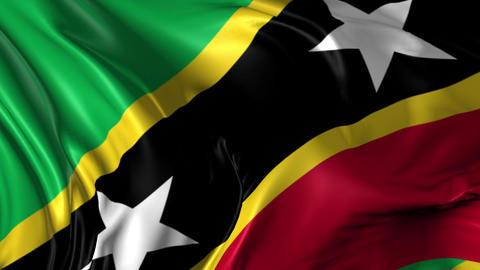 Flag o Saint Kits and Navies Animation
