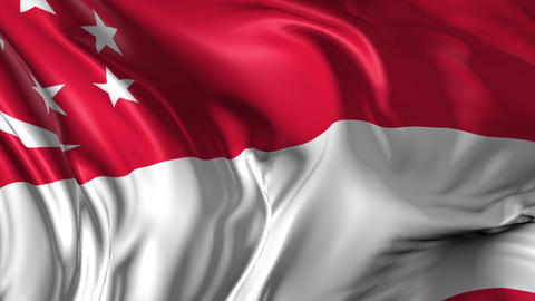 Flag of Singapore Animation