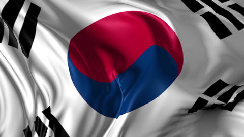 Flag of South Korea Videos animados