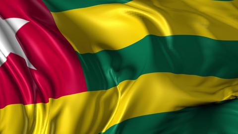 Flag of Togo Animation