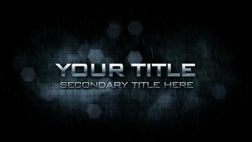 Metallic Text After Effects Template