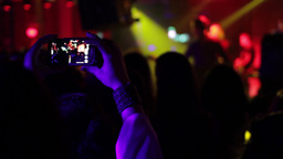 Man shooting a music concert disco 01 Footage