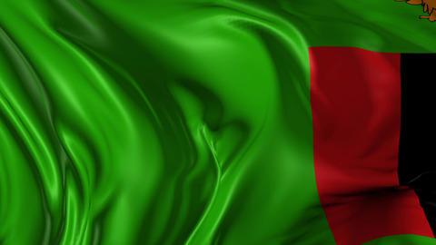 Flag of Zambia Animation