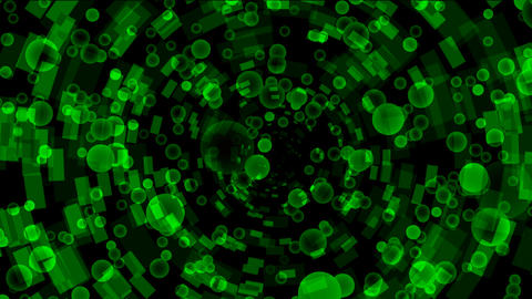 green bubbles flying from a binary internet... Stock Video Footage