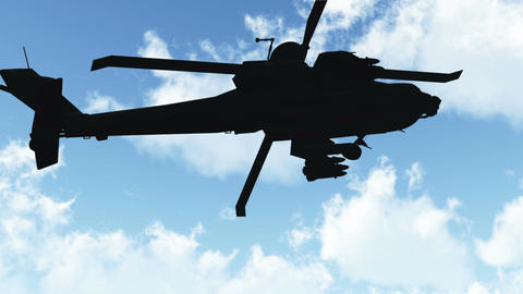 Apache Flying 02 day Stock Video Footage