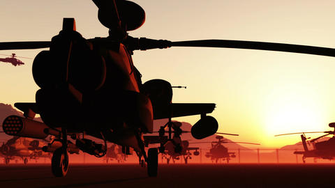 Apaches Base 02 loop Stock Video Footage