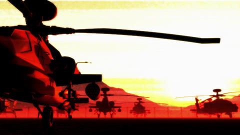 Apaches Base 05 dolly bad signal red Stock Video Footage