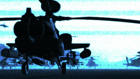 Apaches Base 07 bad signal Stock Video Footage