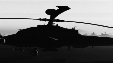 Apaches Base 09 bw signal Stock Video Footage