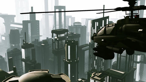 Apaches in City 01 day Stock Video Footage