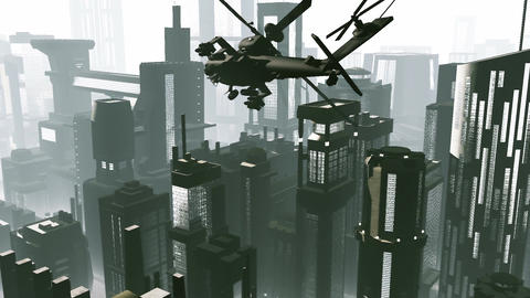 Apaches in City 01 day Animation