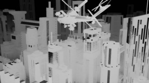 Apaches in City 05 nightvision Stock Video Footage