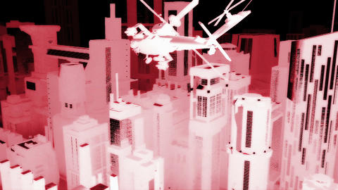 Apaches in City 07 nightvision Animation