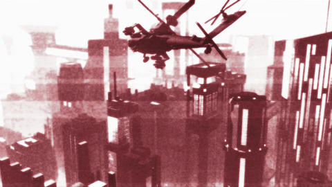 Apaches in City 16 bad signal Animation
