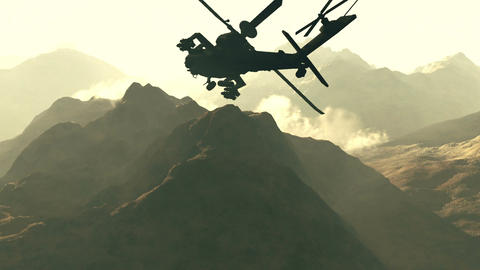 Apaches in Mountains 01 sunset Animation