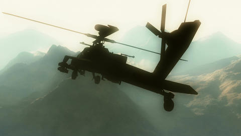 Apaches in Mountains 03 morning haze Stock Video Footage