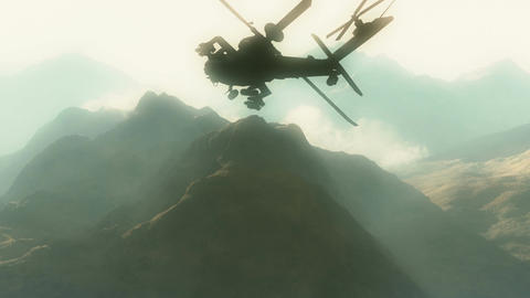 Apaches in Mountains 03 morning haze Animation