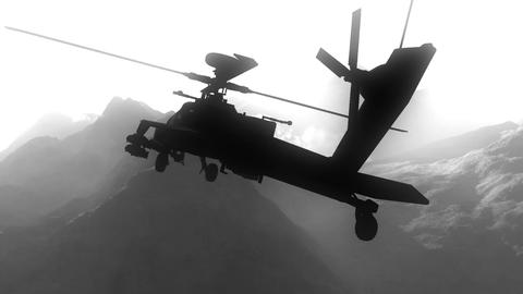 Apaches in Mountains 05 BW art design Stock Video Footage