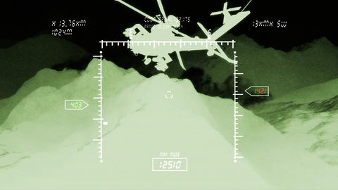 Apaches in Mountains 07 nightvision monitor Animation