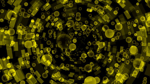 yellow bubbles flying from a binary internet... Stock Video Footage